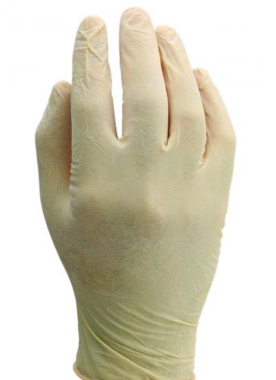 Egyszerhasználatos púderezett kesztyű, méret: M