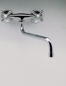 Partner Classic fali mosogató, hosszú lengőcsöves csaptelep