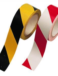 Öntapadós jelzőszalag, piros/fehér