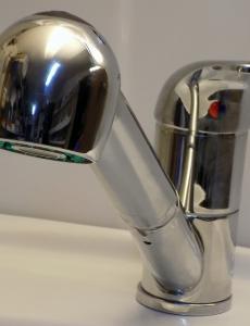 RAAB-S. Egykaros álló gégecsöves, kihúzhatófejes mosogató csaptelep